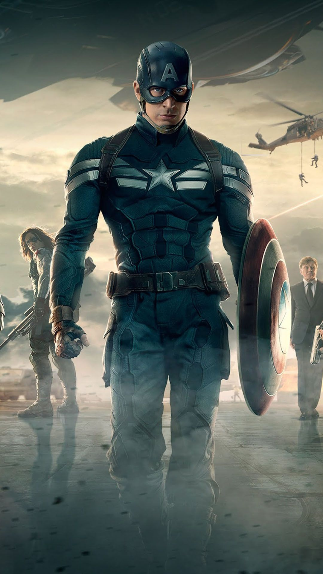 Captain America 2 The Winter Soldier HTC One wallpaper