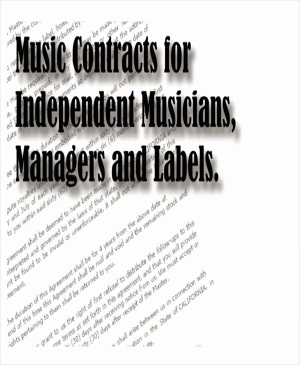 Music Producer Contract Template Lovely Sample Production