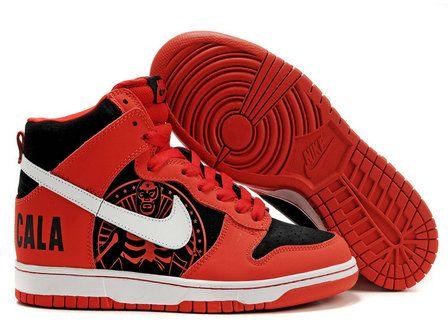 huge discount b2aea 3e7f1 Nike Dunk High Cala Custom Red White Black | Nike Dunk High Shoes ...