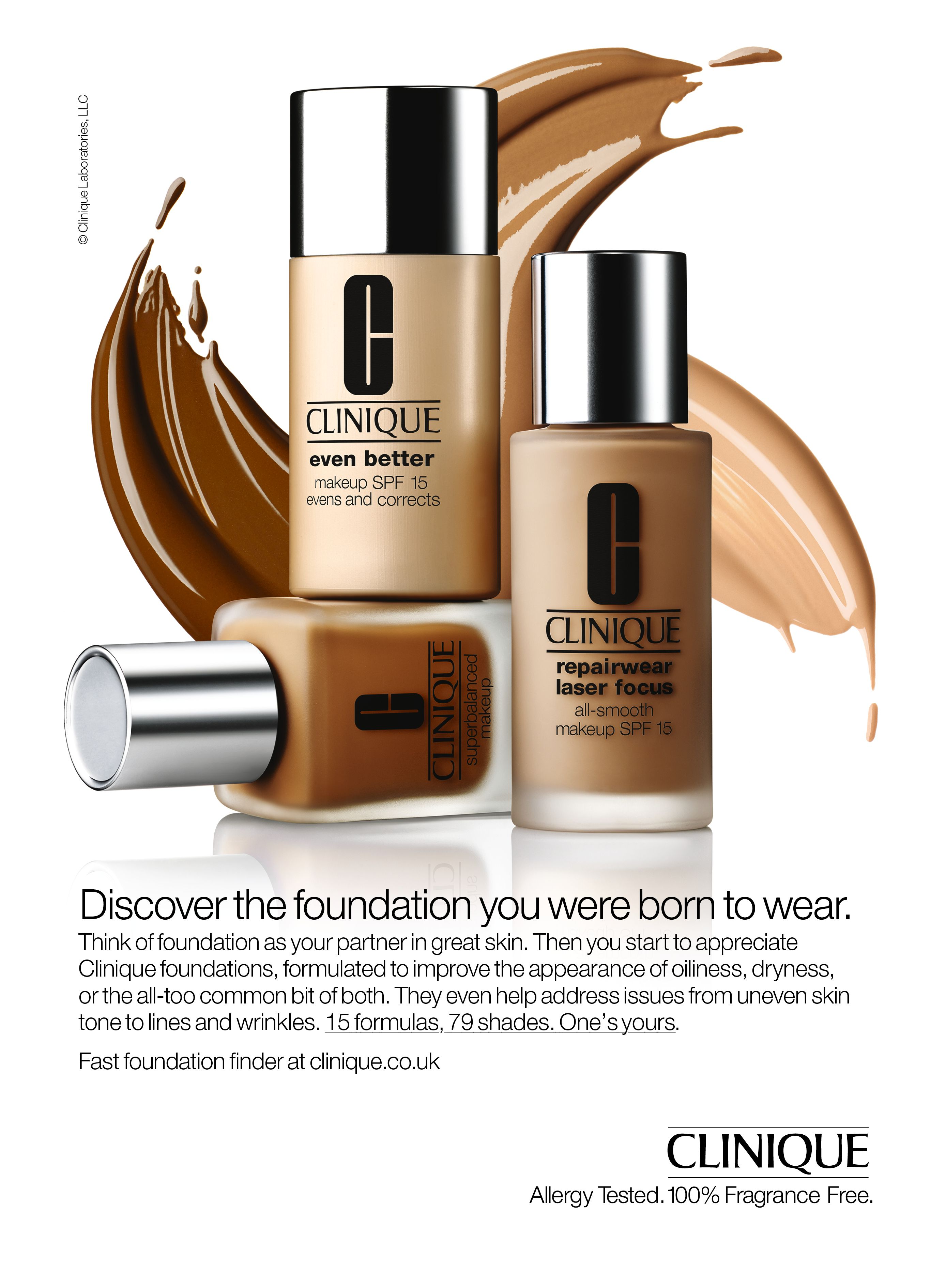 Clinique Foundation Advertising, Splashdown create concept