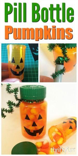 Making Pill Bottle Pumpkins Halloween Pinterest Prescription
