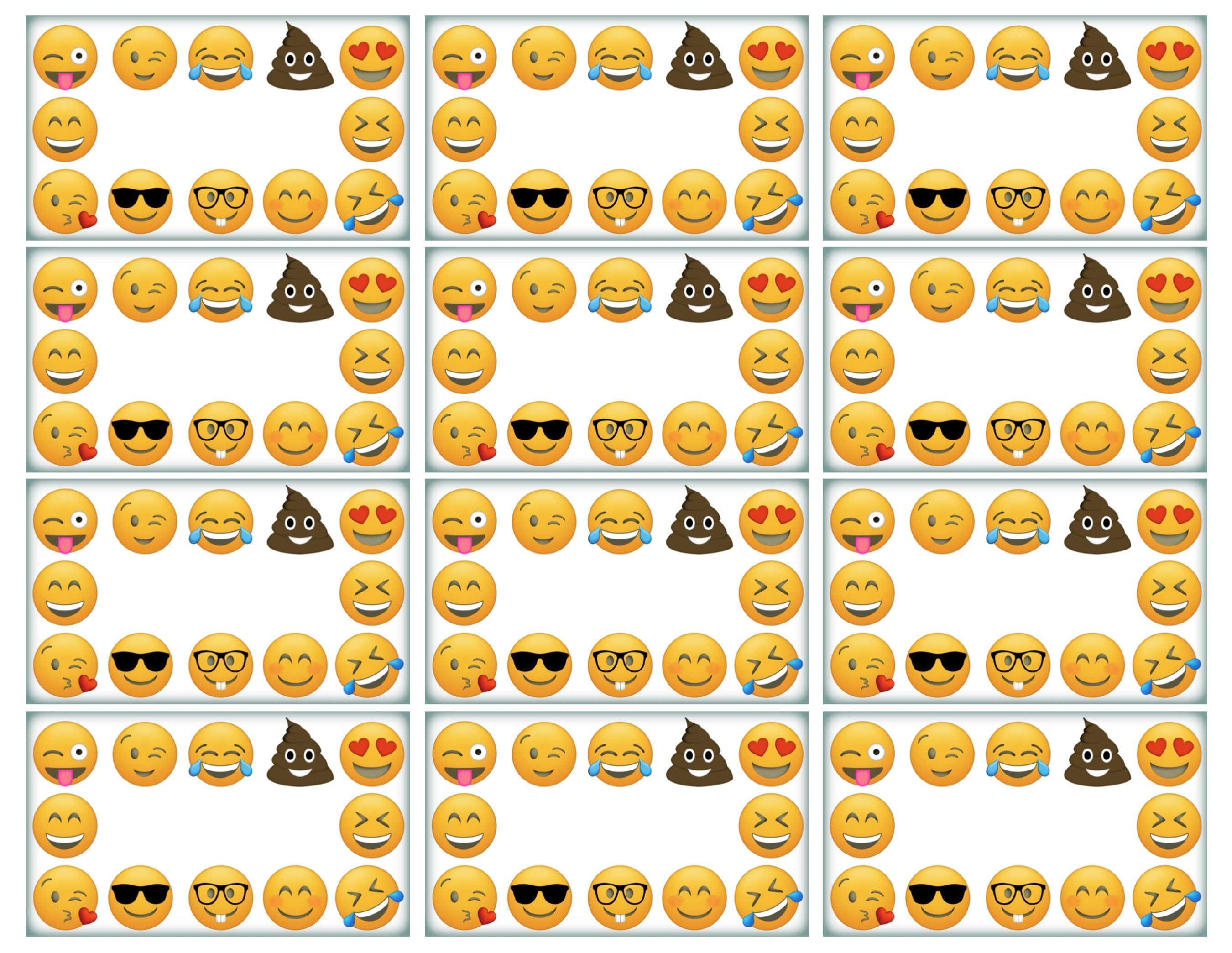 Emoji Labels, Emoji Place Cards, Emoji Food Labels | Emoji ...