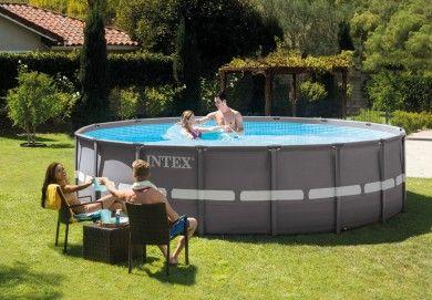 16ft X 48in Ultra Frame Pool Set Swimming Pools Backyard Intex Outdoor Furniture Sets