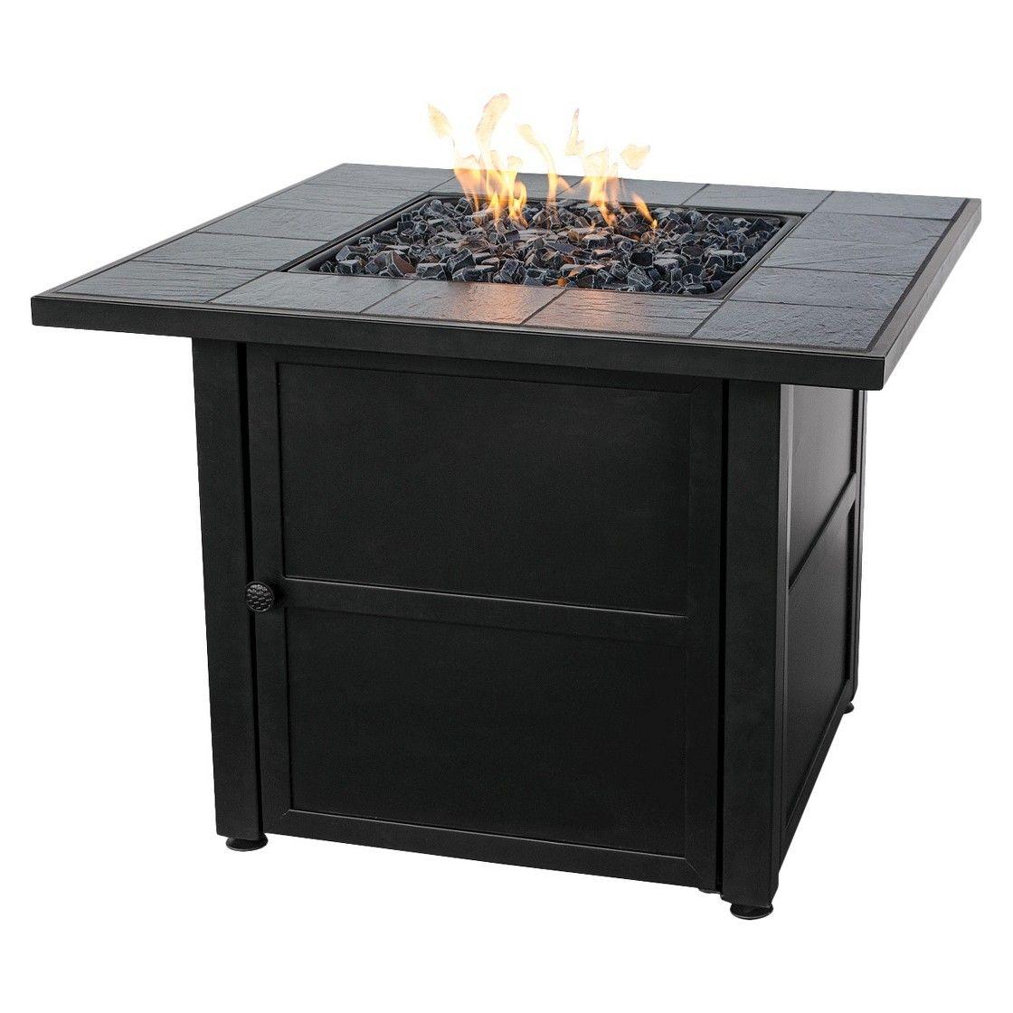 Uniflame Slate Tile LP Gas Fire Pit | Gas fire pit table ...