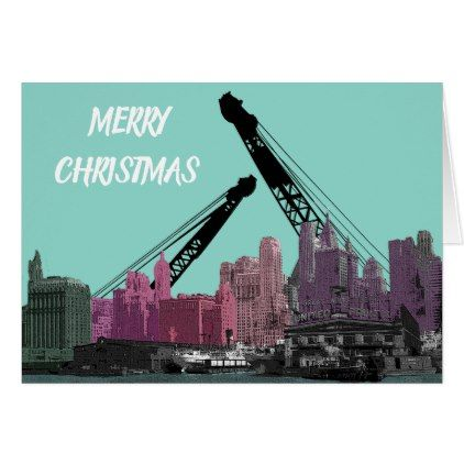 New York City Crane Operator 1930 S Skyline Comic Card Construction Business Diy Customize Personalize Pinterest