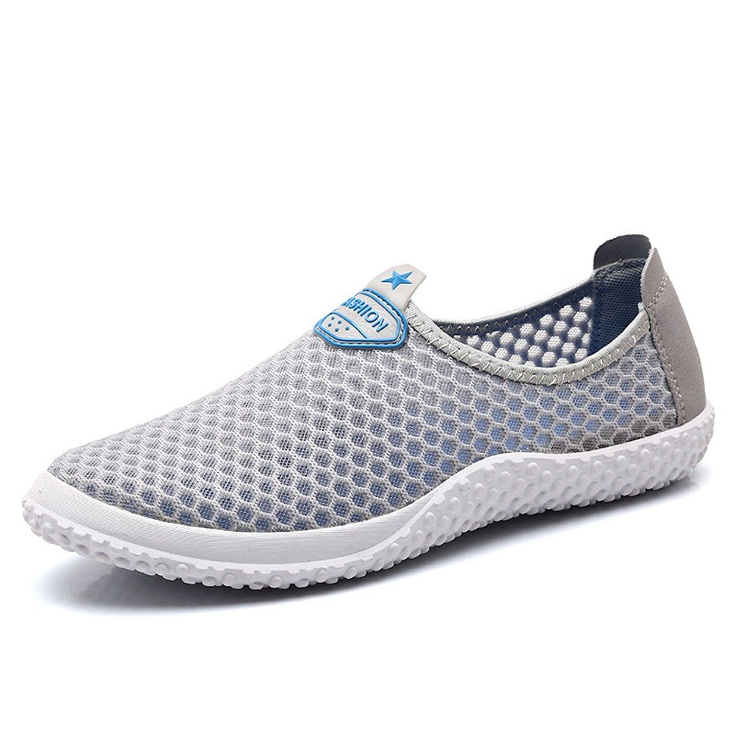Man and Women Mesh Slip On Water Shoes Breathable Quick Drying Aqua Shoes6 colours