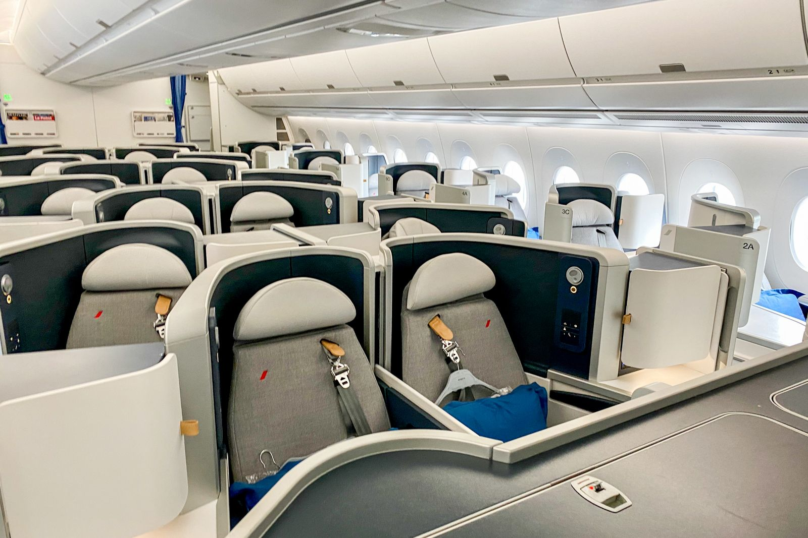 Flight review Air France A350 biz class across the