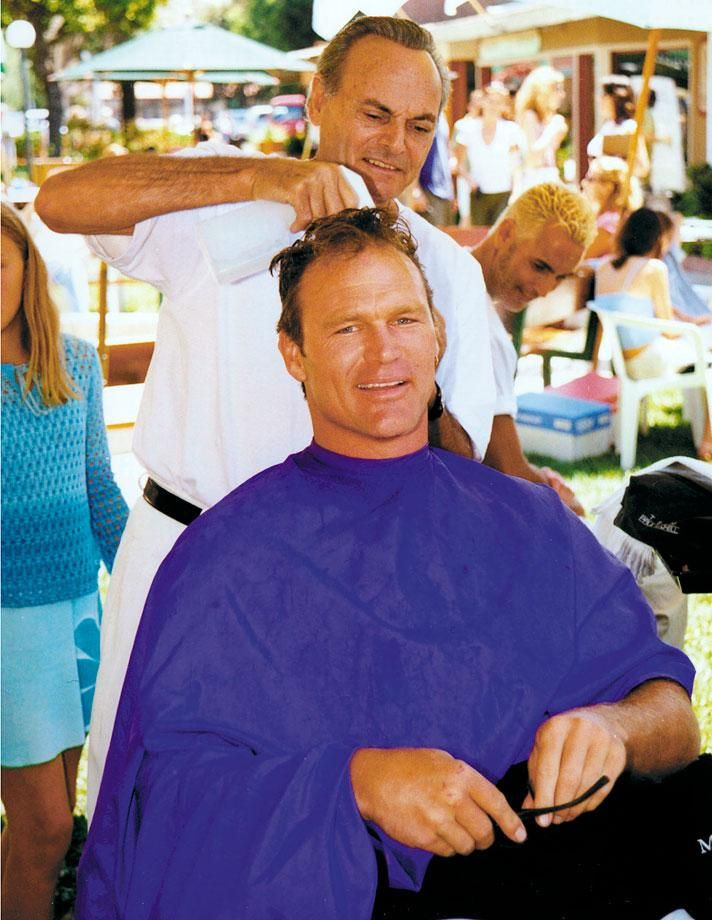 Bosworth Receives A Haircut From A Hairstylist At The Parkinson