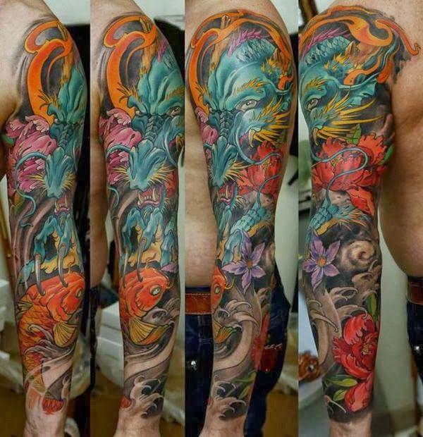 Full Arm Color Tattoo Cerca Con Google Full Sleeve Tattoos Sleeve Tattoos Japanese Sleeve Tattoos