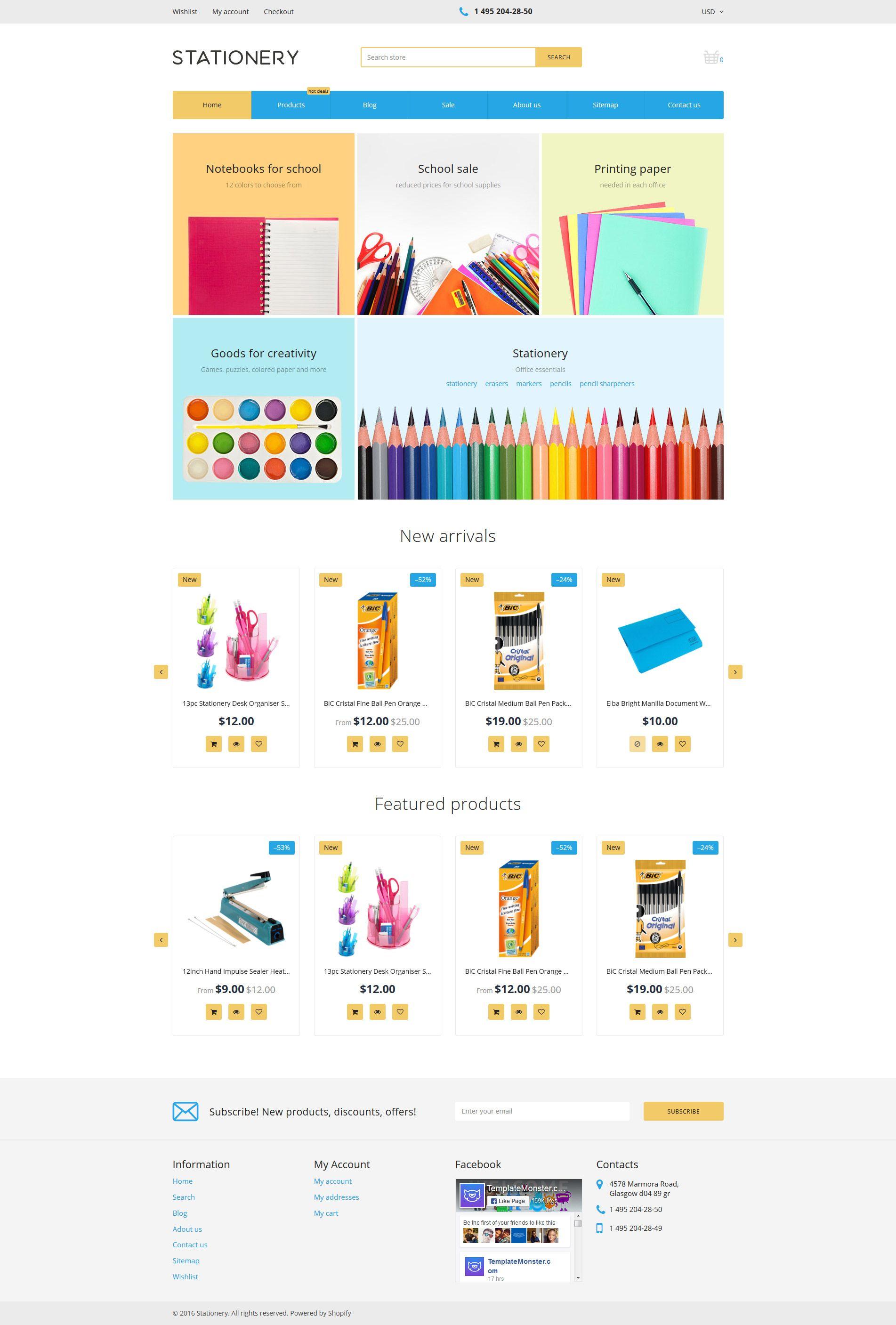 Stationery Store Shopify Theme Shopify Theme Stationery Store Shopify Templates