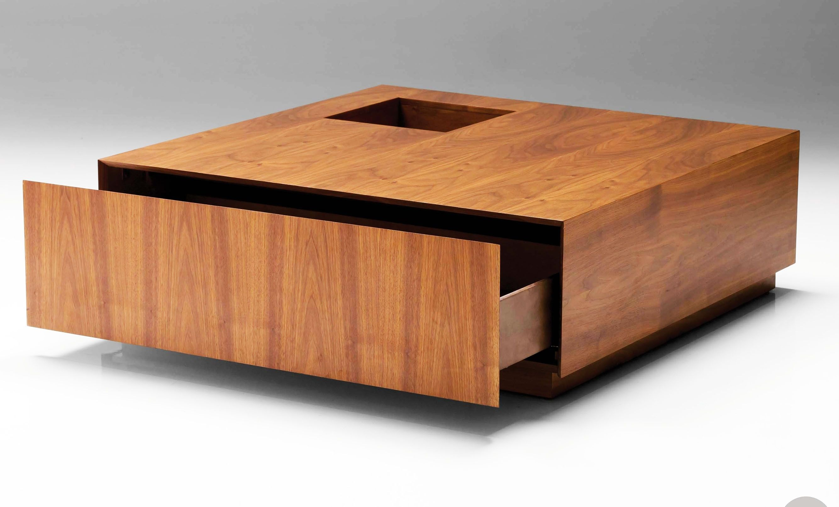 Contemporary Square Wood Coffee Table