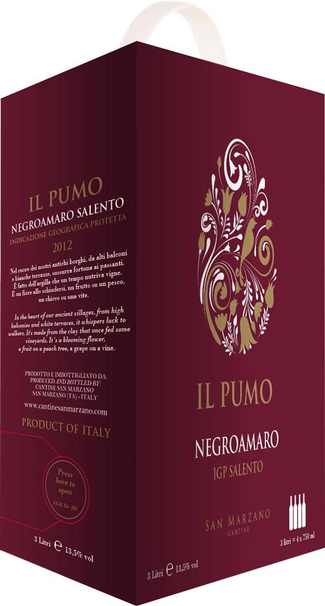 Rượu Vang IL Pumo 13,5% - Bịch 3000ml - Rượu Vang Nhập Khẩu