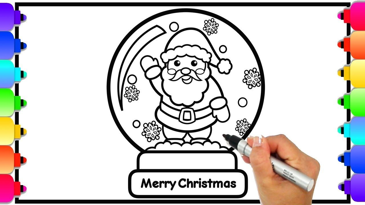 How To Draw A Snow Globe Christmas Coloring Pages Glitter Art How Printable Christmas Coloring Pages Coloring Pages Printable Coloring Pages
