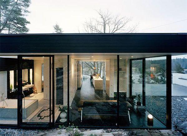 Hillside House Plan Makes Contemporary Look Earthy Black
