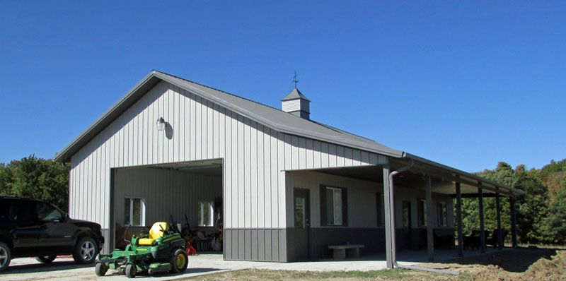 Metal Garages With Living Quarters Bob W 30 X 60 X 12 Ames Ia Gb 2029 Barn With Living Quarters Pole Barn Homes Building A Pole Barn
