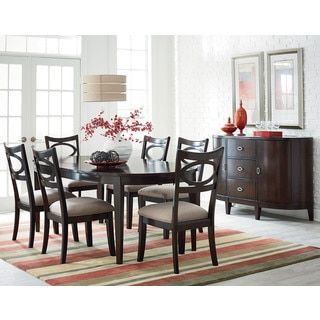 Shop For Serenity Cherry Finish Oval Dining Table Get Free Shipping At Overstock