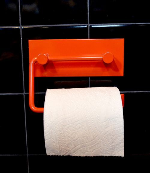 Red Toilet Paper Holder