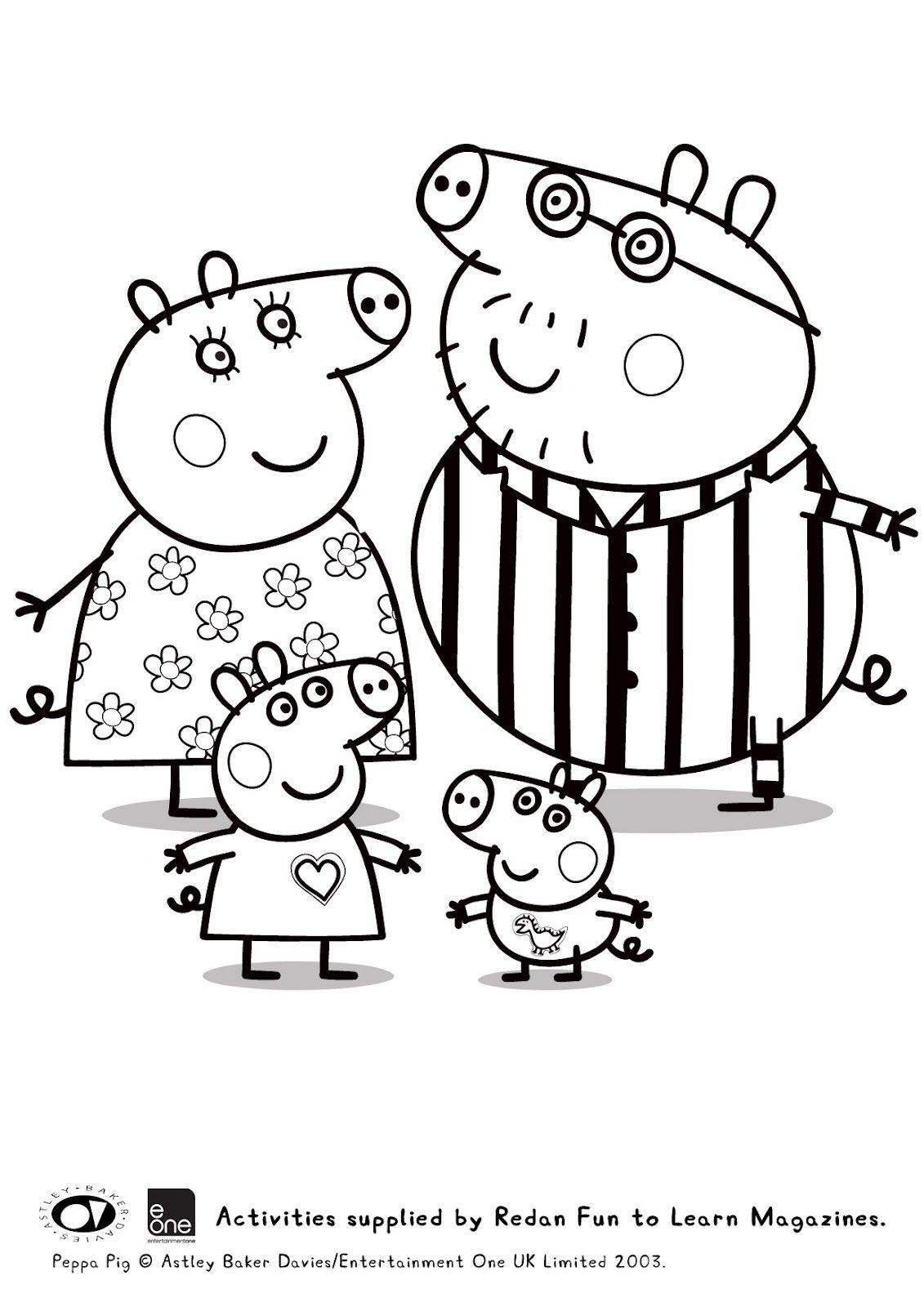 Guarda tutti i disegni da colorare di Peppa Pig www.bambinievacanze ...
