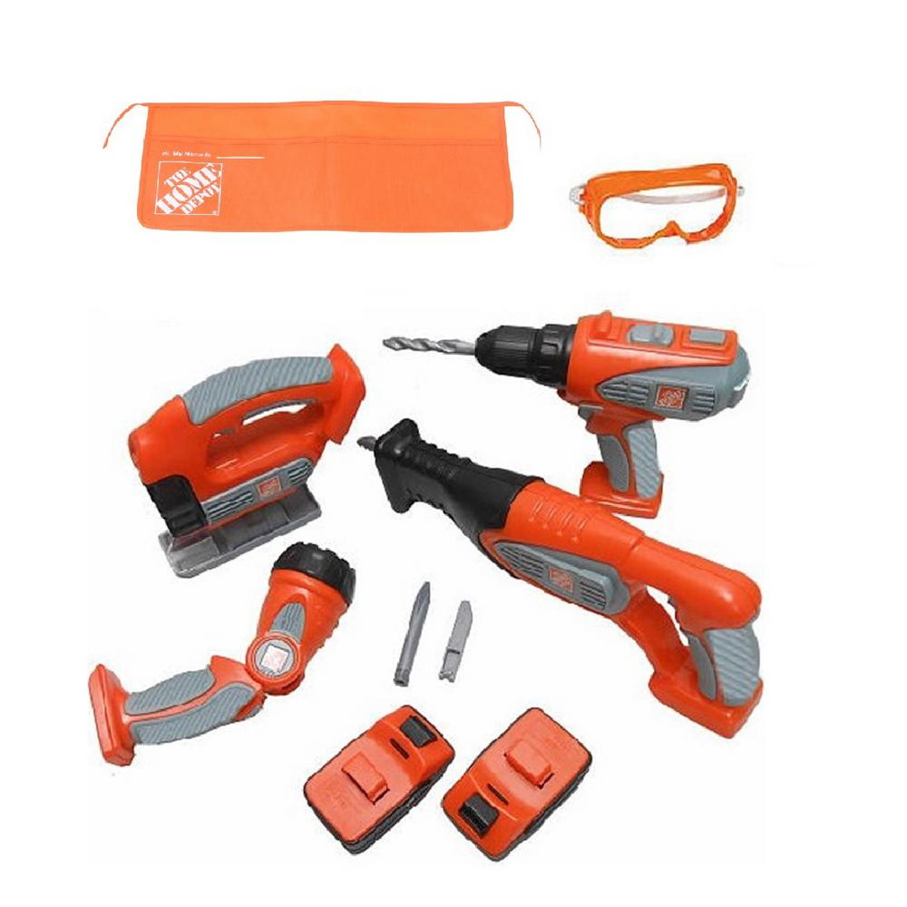 The Home Depot 10-Piece Deluxe Power Tool Set with Try Me Light ...