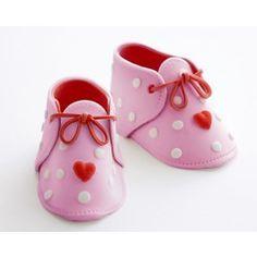 icing gum paste baby shoe bootie how to  Cakegirls
