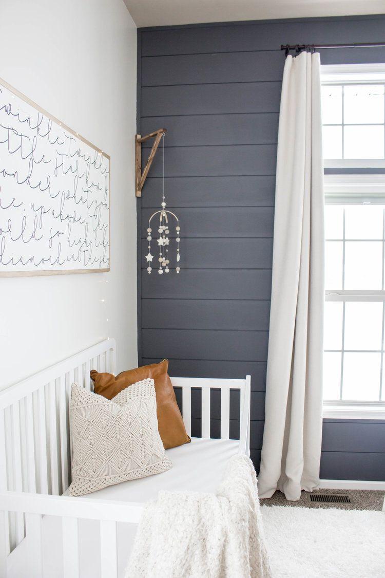 Baby Boy Room Paint Ideas: Baby Boy Nursery Shiplap Wall