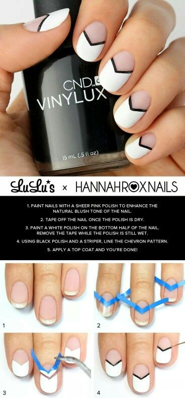 Black White Nail Designs Beauty Styles And Tricks Hair Nails And