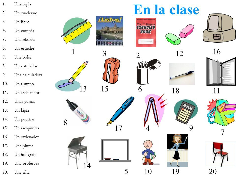 Los materiales de clase material escolar pinterest for 10 objetos del salon de clases en ingles