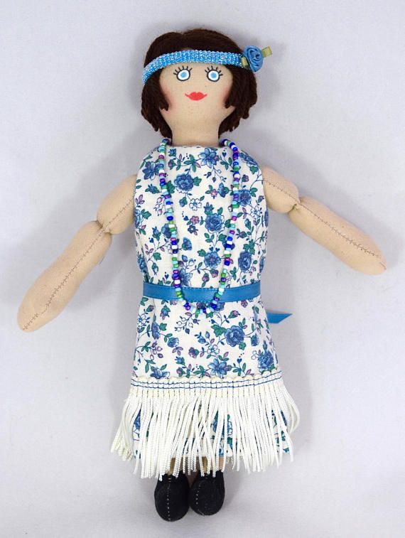 Flapper Girl Doll  1920s  OOAK Doll  Art Doll  Toy