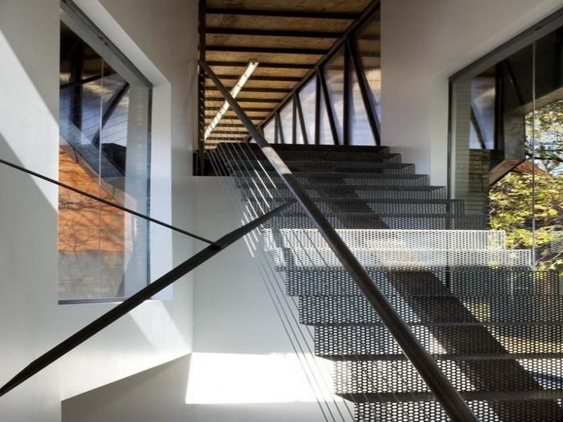 Best Perforated Metal Stair Treads Staircase Design Exterior 400 x 300