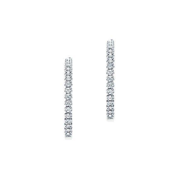 42decc7d3 Tiffany Metro:Hinged Hoop Earrings   Jewellery   Luxury jewelry ...