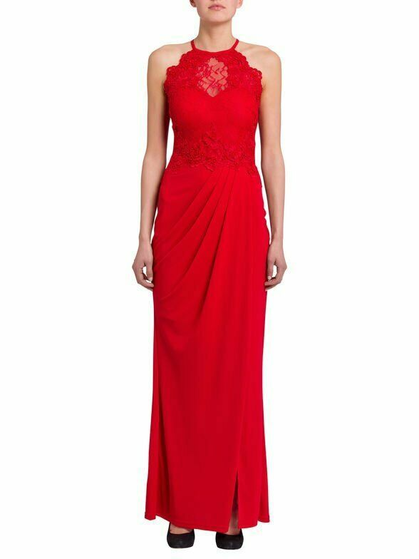 LIPSY Abendkleid Maxi Jerseykleid Ballkleid Hochzeit rot ...