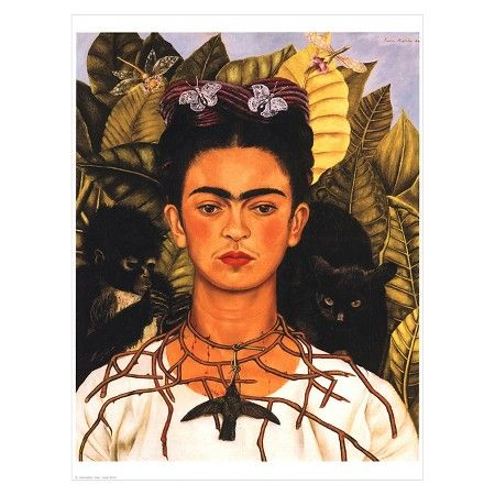 Portrait with Necklace by Frida Kahlo Unframed Wall Art Print : Target