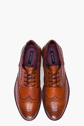 TIGER 03B OF SWEDEN Tan Clive 03B TIGER Brogues  Hombre Zapatos  Robert bc0d0c