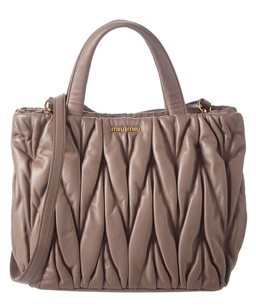 7921c1472d1b MIU MIU Miu Miu Matelasse Leather Satchel.  miumiu  bags  shoulder bags   hand bags  leather  satchel  lining