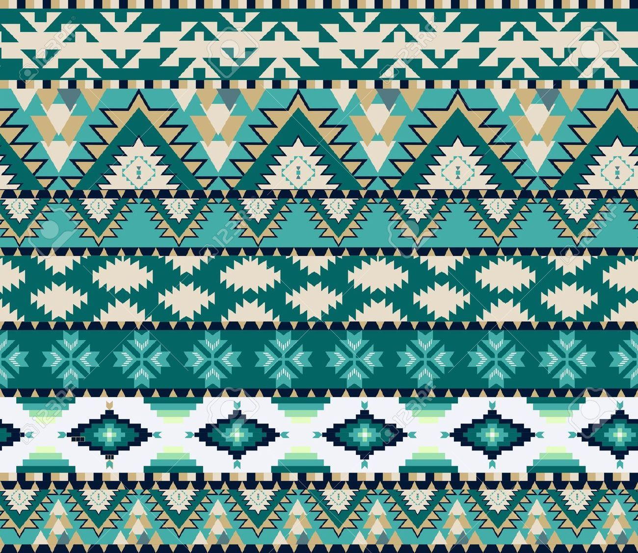 Background geometric mexican patterns seamless vector zigzag maya - Illustration Of Aztecs Seamless Pattern On Cold Color Vector Art Clipart And Stock Vectors