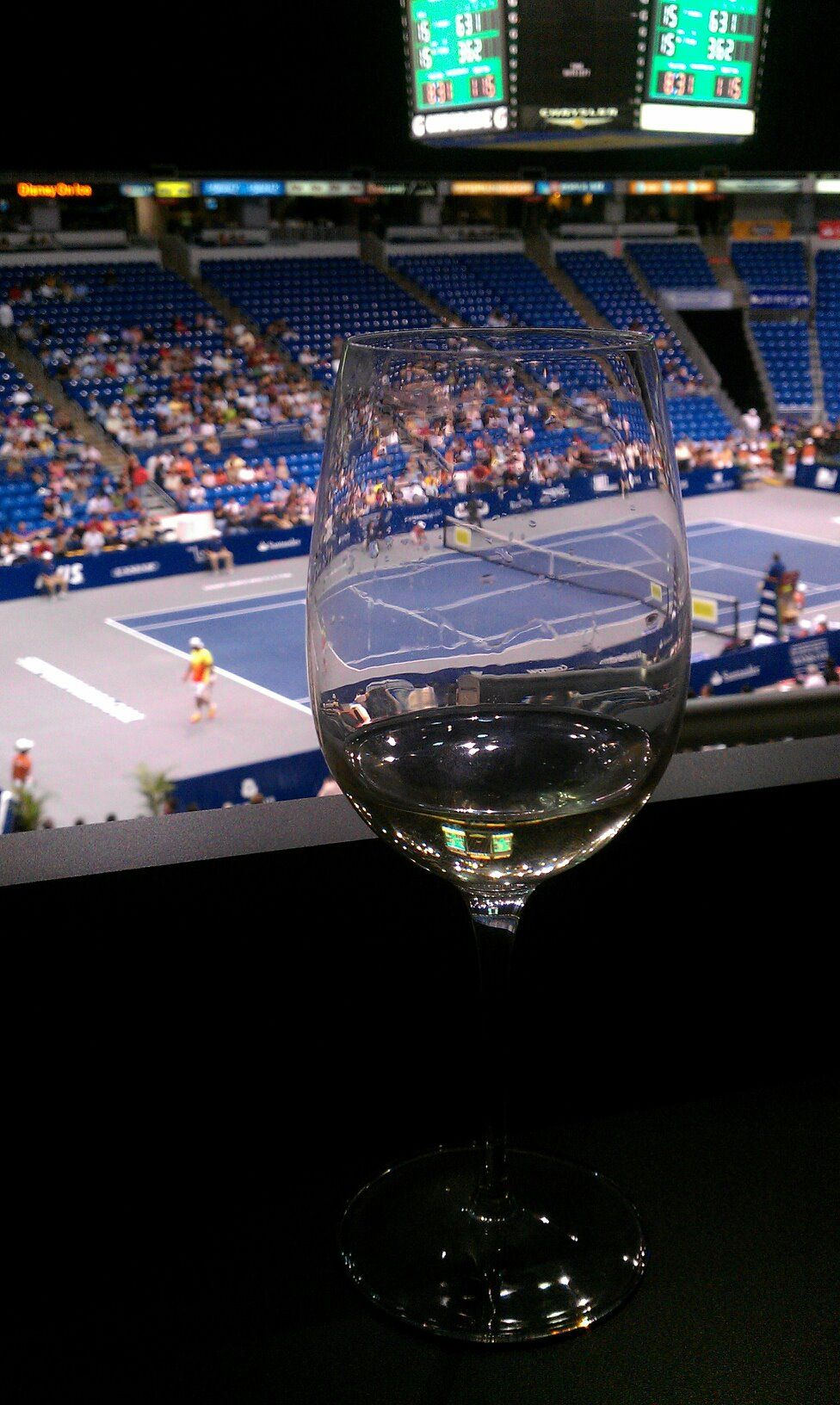Puerto Rico Tennis Cup @ Oriental Bank Suite in the Choliseo of Puerto Rico. Wine & Tennis, life is GOOD!!!