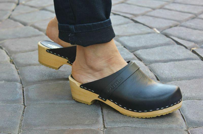 7d9e62b944281 Swedish Husband Black | Fall Capsule 2017 | Wooden clogs, Clogs, Shoes