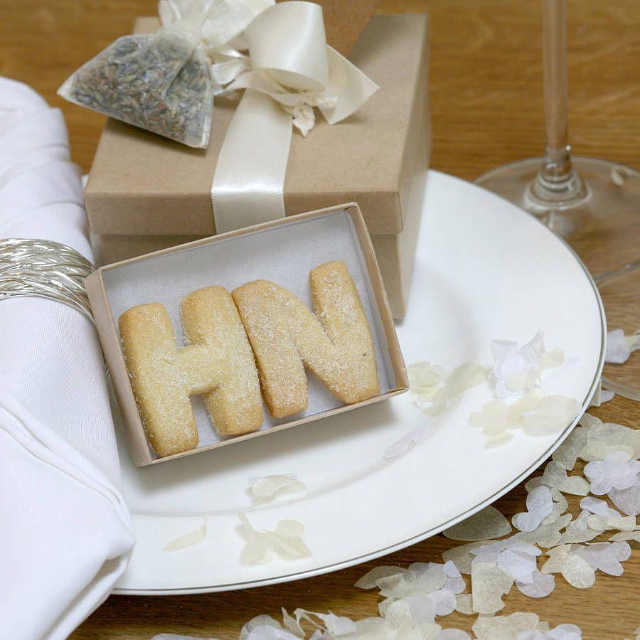 Wedding favor - shortbread initial cookies | Wedding Favors ...