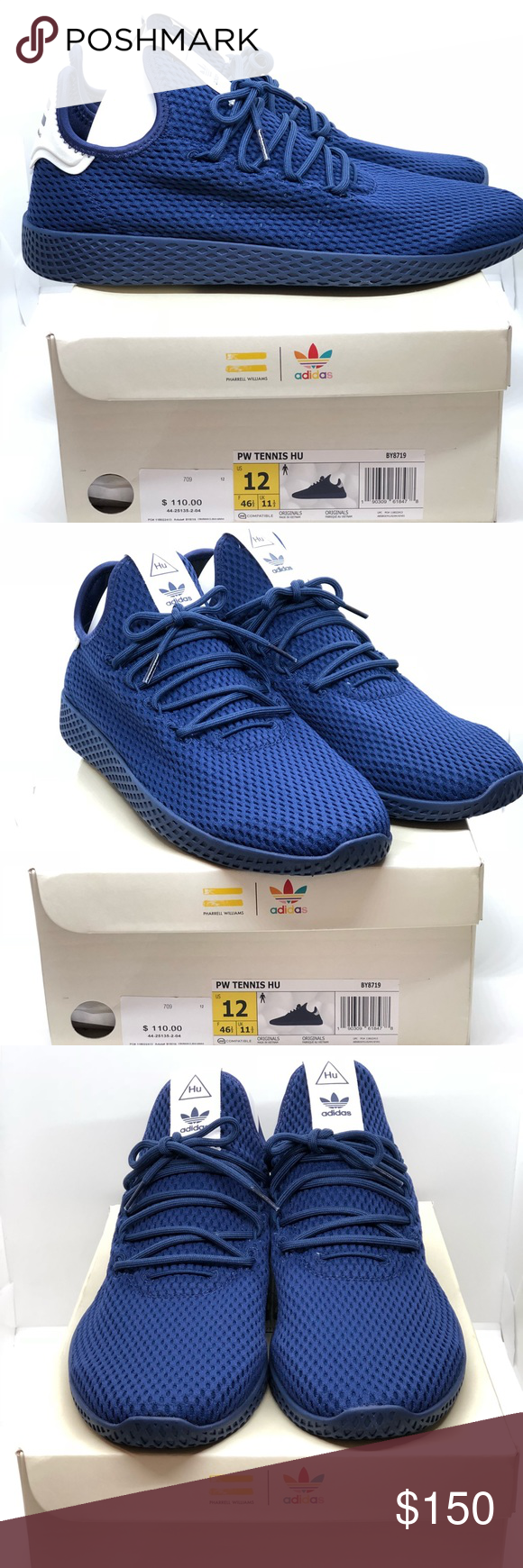 d4cbeec78 Adidas Pharrell Williams PW Tennis Hu BY8719 Adidas Pharrell Williams PW  Tennis Hu Dark Blue BY8719 Size 12. Original box included. 100% Authentic.