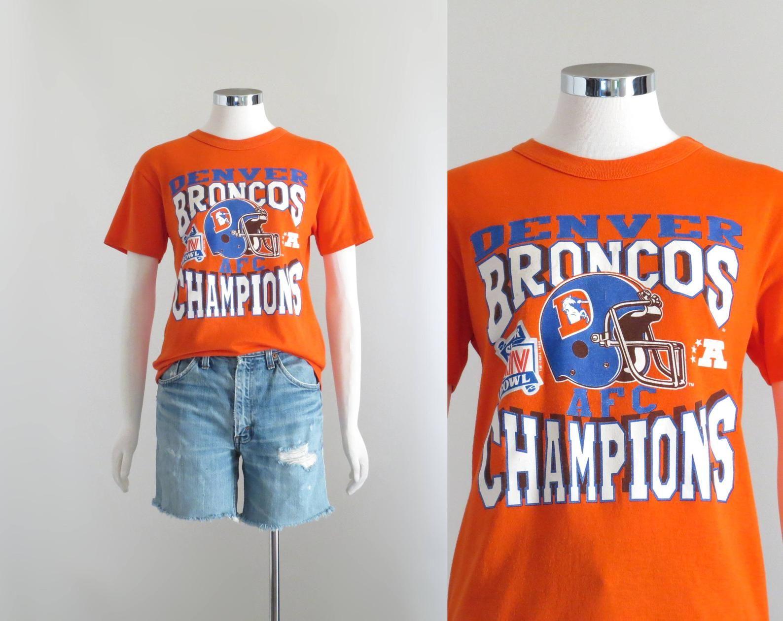 c6268a0f Denver Broncos Shirt, 80s Tshirt, Womens Graphic Tee, Retro Football ...