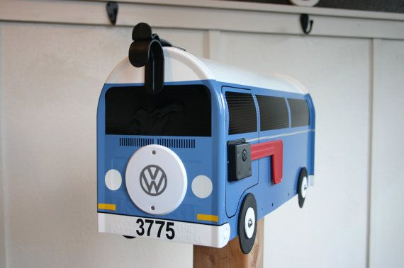 EXAMPLE  Custom Made To Order Volkswagen Bus Mailbox by TheBusBox, $104.00
