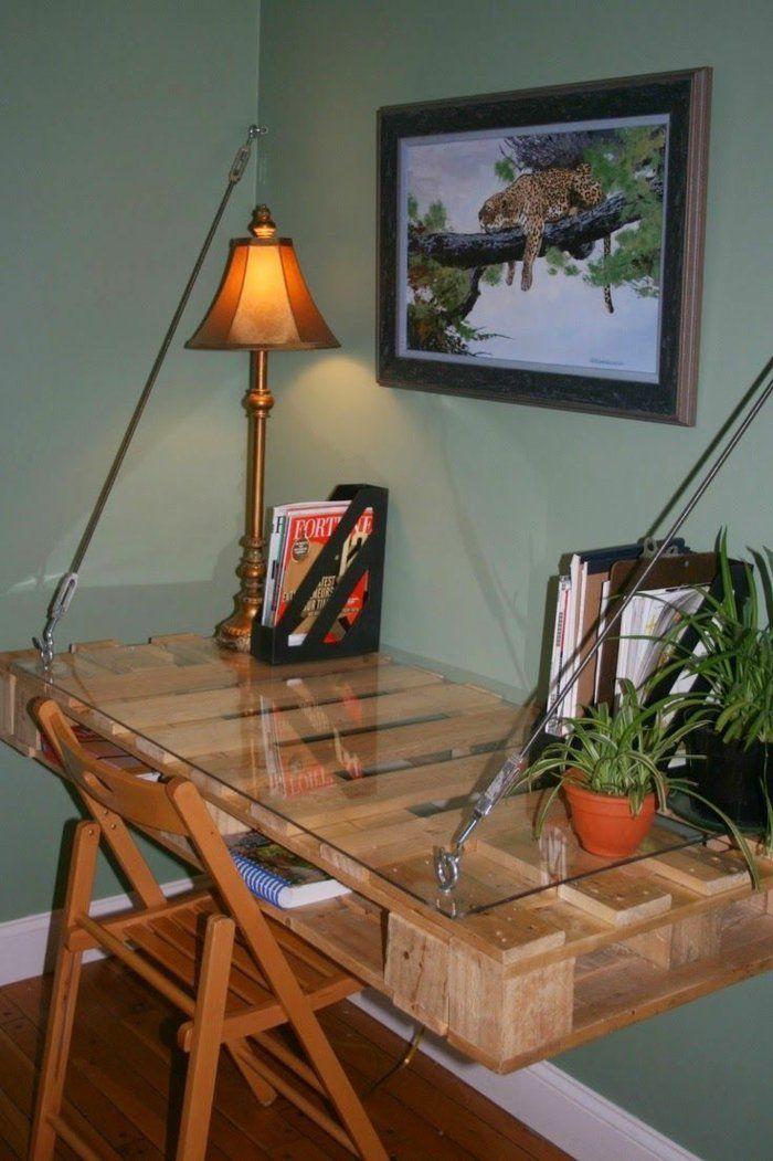 m bel aus paletten diy schreibtisch selber bauen paletten pinterest diy schreibtisch. Black Bedroom Furniture Sets. Home Design Ideas