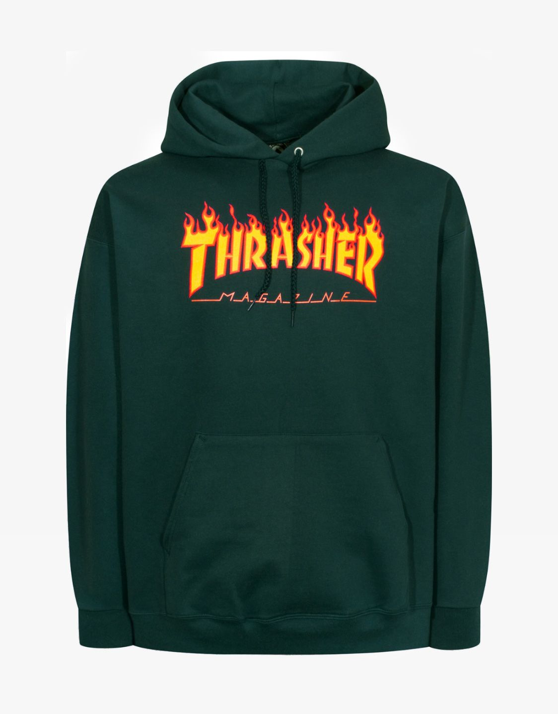 39c98211158b5e Thrasher Magazine Flame hoodie green | ♡ Fashion Needs ...