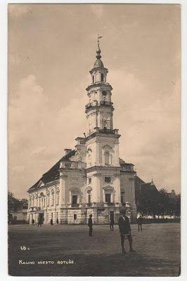 Postcard Kaunas Lithuania 1934
