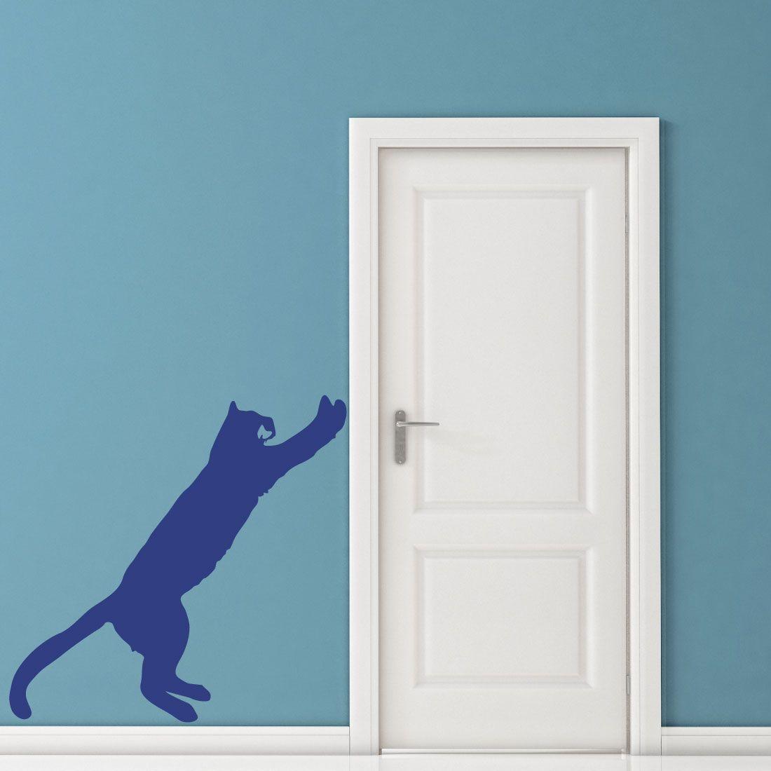 Amazing Dekorieren Sie Ihre Wände Mit Dem Motiv: Katze An Der Tür Wandtattoo Von  Wandtattoo.
