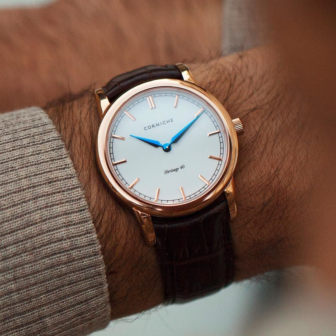 Simple and elegant. The Heritage 40 from @cornichewatches  | Crazy Discounts on Luxury Watches: http://bit.do/discountwatches