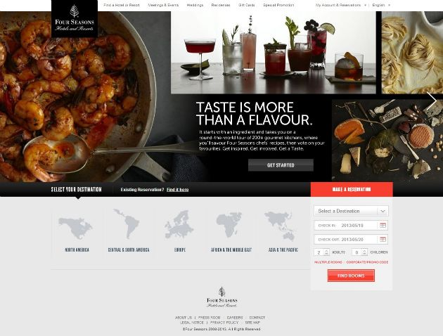Four Seasons Hotels 20 Best Hotel Website Designs For Your Design Inspiration