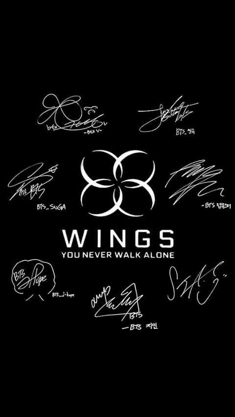 Bts wings. + signitjres