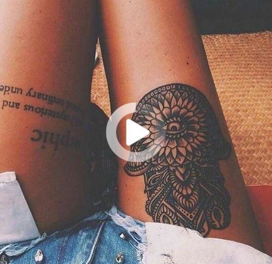 70+ Most Eye-catching Meaningful Thigh Leg Tattoos Design For Women - Page 13 of