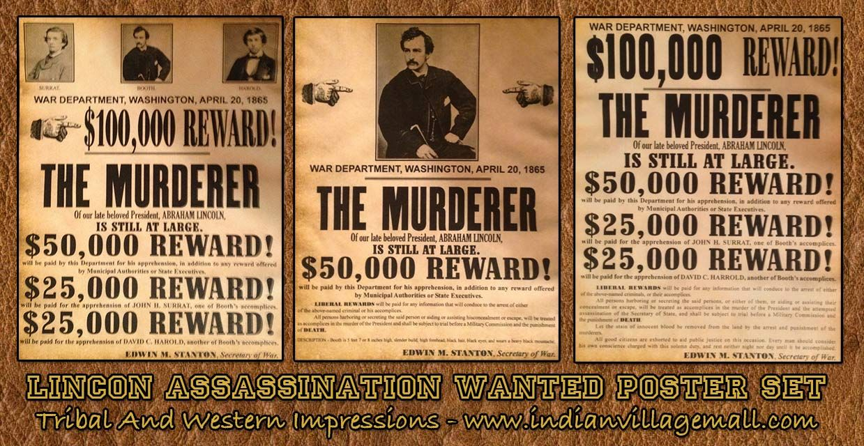 Lincoln assassination reward poster collection review the